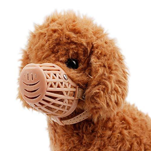 YHDD Dog Mouth Cover ist weich und einstellbar, atmungsaktiv, Training, Kauen, Kauen (größe : 6)