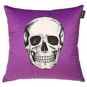 POPRY Cranio divani di velluto cuscino cuscini cuscino timbro,45x45cm viola
