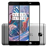 Oneplus 3 / 3T Tempered Glass Screen Protector Full Cover Edge-to-Edge (Black) for One plus 3 OnePlus 3T 1+3