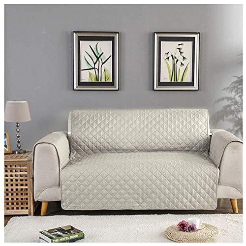 Laamei copridivano copripoltrona imbottito copertura trapuntato per sedia matte fodera divano di protezione per gli animali domestici anti-graffio, antifouling (190cmx195cm)