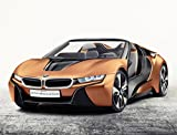 BMW i Vision Future Interaction (2016) Car Print on 10 Mil Archival Satin Paper Orange Front Side Studio View 16