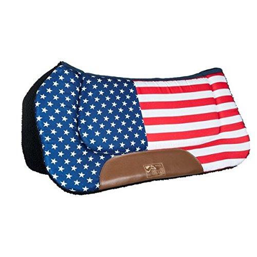 HKM TEXAS Western Westernpad -Stars & Stripes-, Flag USA, Pony (Flag Pony)