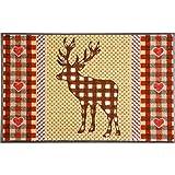 Waschbare Fußmatte - Hirsch braun 50x75 cm wash+dry Fußabstreifer - Türmatte Sweet Deer