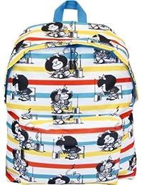 mochila infantil fondo blanco+ estampado mafalda