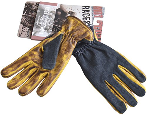 King cherosene Biker Work Glove Denim to Faded Brown 3 X L