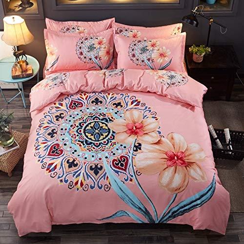 yaonuli Vier Sätze dick schleifender Bettbezug-Glaspuder (Hauptbild) Vier Sätze Bettbezug 180 * 220 Blatt 230 * 250 Kissenbezug * 2
