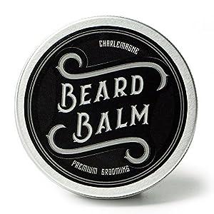 Charlemagne Beard Balm – 100% natürliches Bart Balsam – Bart-Wachs Made in UK – Bart-Creme Entwickelt von Barbieren – Bart-Balm für Bartpflege – Bart-Pomade und Bart-Wichse für Herren