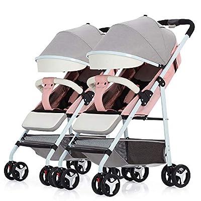CHEERALL Cochecito de bebé Doble Respaldo Desmontable Desmontable Verano Ultra Ligero Portátil Plegable Sillas para niños pequeños Cochecitos Dobles para bebés