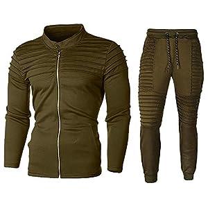 Herren Trainingsanzug Jogging Anzug Fitness Trainingsjacke Sweatjacke Hoodie Sporthose Jogginganzug Fußball…