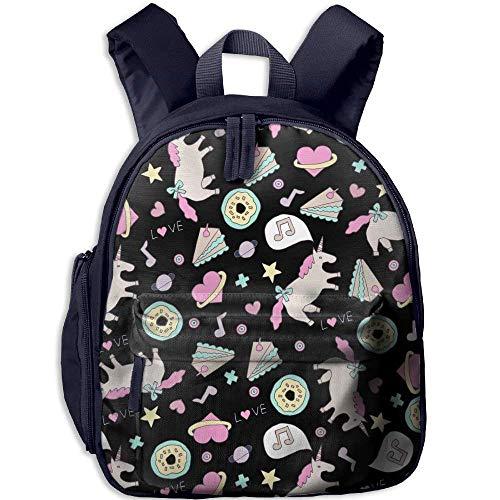 Kindergarten Boys Girls Backpack Rainbow Donut School Bag