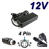 TOP CHARGEUR ® Adaptateur Secteur Alimentation Chargeur 12V pour TV LCD SANYO CE20WLC25 CE20WLC25B00 WALTHAM TV1500V...