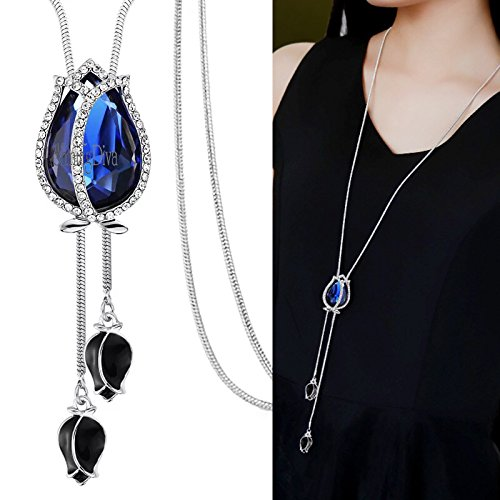 Shining Diva Fashion Jewellery Pendants for Girls with Long Chain Pendent Party Western Wear Stylish Necklace For Women & Girls