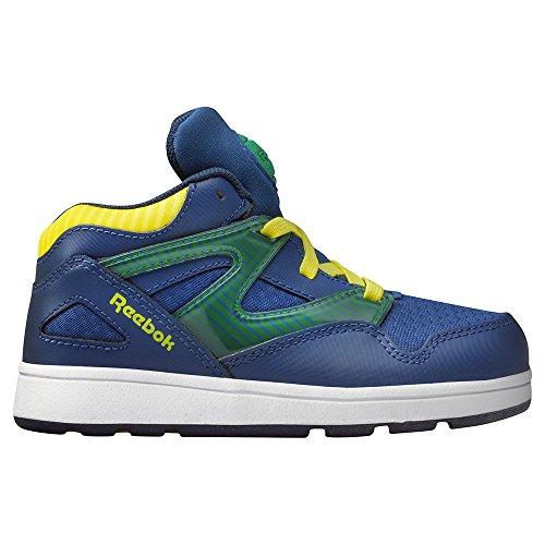 Reebok CLASSIC VERSA PUMP OMNI LITE Blau Gelb Baby Sneakers Schuhe Neu (Omni-8-schuh)
