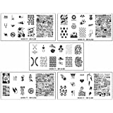 BMC Cute 5pc Work It! Sports Themed Nail Polish Art Stamping Stainless Steel XL Plates Set 3 : Go Team!