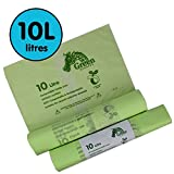 10 Litre x 100 bags Compostable Caddy Liners 10L Kitchen -...