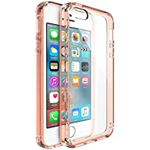 Cover iPhone SE, Ringke [FUSION] Chiaro PC Retro Trasparente Antiurto Respingente de Silicone TPU Bordi Sollevati Protezione Sottile Custodia Cover Apple iPhone SE / 5S / 5 - Cristallo Oro Rosa (Rose Gold Crystal)