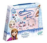 Totum 680012 - Disney Frozen Die Eiskönigin Bastel-Set Armbänder für Mädchen (Kreativ-Set mit Amulett, verschiedenen Perlen, Satinband, Gummiband, Sticker)