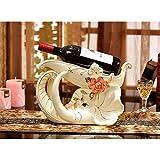 BU-SOH Botelleros Elefante de cerámica Vino Rack práctico hogar Creativo Regalo de Estilo Europeo Moderno Simple Inicio decoración de cerámica Blanca Fácil de Poner (Color : White, Size : 33X19X23cm)
