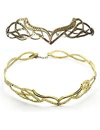 Diadème tiare elfique couleur dorée couronne d'elfe