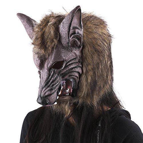 (JIAHG Halloween Maske Deko Werwolf Horror Masken für Weihnacht Cosplay Clubs Maskerade-Parteien Karneval Ostern Fasching One Size)