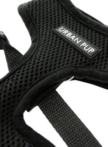 "UrbanPup Jet Black Soft Harness (X-Small - Dog Chest Circumference: 10"" / 25cm) 3"