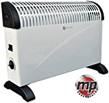 MP Essentials 2kW Home & Office Convector Radiator Heater (Wall Mounted or Floor Standing) (White)