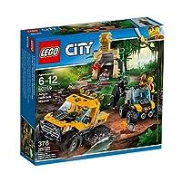 Esplora la misteriosa giungla di LEGO® City nella Missione con il semicingolato, dotato di ruote posteriori cingolate, compartimento per la catena e le attrezzature, fuoristrada con cassa estraibile, falò costruibile e tempio costruibile con diamante...