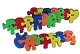 Unbekannt PUZZLE TEPPICH - Zahlenraupe Zahlen lernen - PUZZLETEPPICH SPIELTEPPICH PUZZLEMATTE - Moosgummimatte / Moosgummi