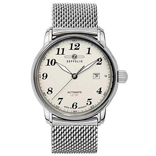 Zeppelin 7656M-5 Mens Count Silver Steel Bracelet Watch