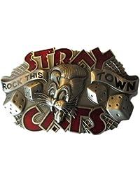 hotrodspirit - boucle de ceinture stray cats rock this town marque rumble  59 rockabilly homme femme f33e015a6ed