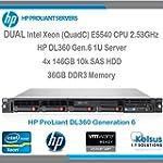 HP ProLiant Server DL360 G6 1U - Dual...