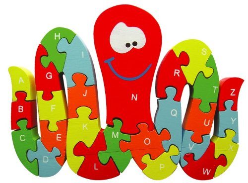 Sapin Malin - SM58808 - Puzzle - Pieuvre Alphabet et Chiffres