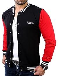 Reslad College Jacke Herren Oldschool Authentic Baseball-Jacke   kontrastfarbene Ärmel   Moderne Sportjacke RS-1150