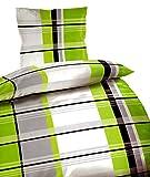 Bertels 4048883705977 Adrian grün 135 4 teilig Bettwäsche-Set, Mikrofaser, 38,8 x 27,4 x 6,6 cm