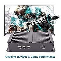 MAIPC Industrial PC Intel Core i7 8550U 2*DDR4 1*mSATA+1*M.2+1 * 2.5''SATA Fanless Mini Desktop Windows 10 HDMI VGA WiFi