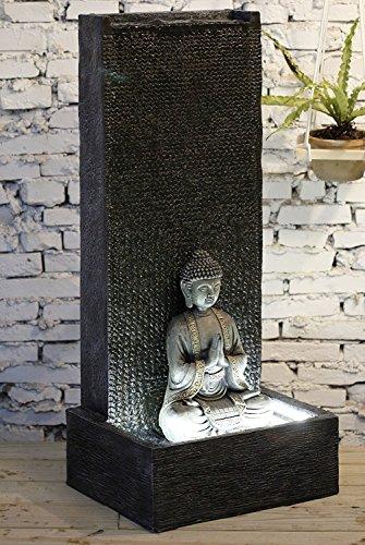 Fuente jard n fuente exterior buda xl con led blanco 100 - Fuentes para jardin exterior ...