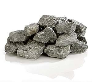 pierres de perfusion sur boîte de 10 kg de olivine diabase