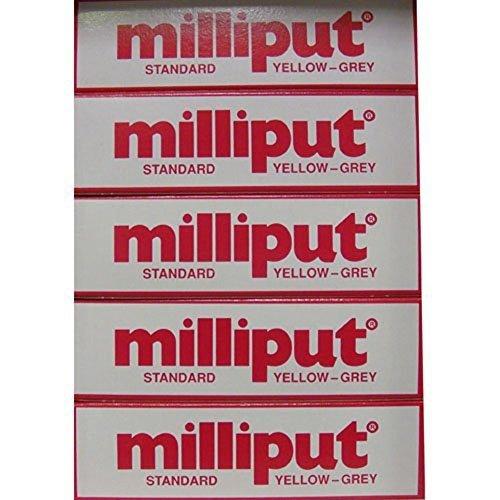 Milliput Epoxy Putty - Standard (Yellow/Grey) 113.4g Kit - 10pk by Milliput ( MB Fibreglass ) -