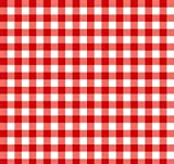 Red Gingham 1/4 Check Polycotton Fabric - per meter by Empee