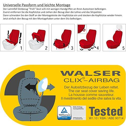 2er Set Lammfell-Sitzbezug anthrazit -kein Patchwork- Vollbezug mit ABE Torrex 39757 Universalgröße