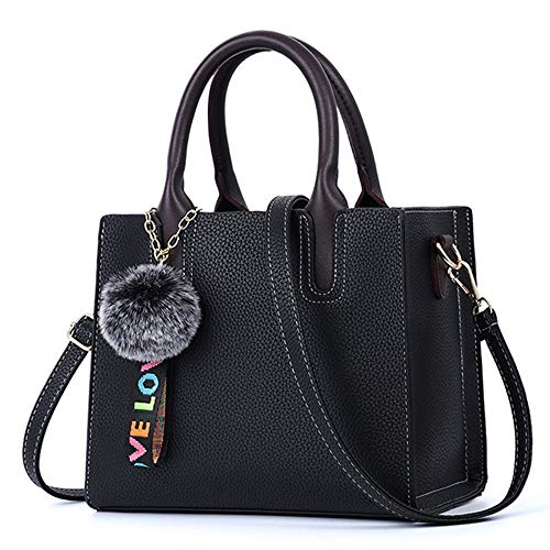XUZISHAN Schultertasche Weiblichen Taschen Beiläufige Tote Trendige Mode Pu Leder Handtasche Messenger Bag,04