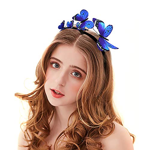 Schmetterling Kostüm Blauer - Zoylink Schmetterlings Stirnband Party Stirnband Exquisite Hair Hoop Party Headpiece für Frauen