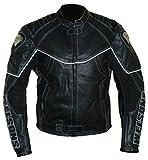 Protectwear WMB-303 Motorrad - Lederjacke,Größe : 58, schwarz