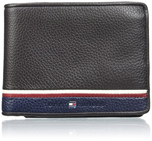 tommy-hilfiger-corporate-cc-flap-and-coin-pocket-portamonete-uomo-braun-coffee-bean-3x10x13-cm-l-x-h