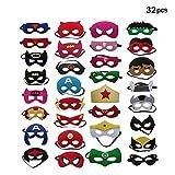 BJ-SHOP Superhelden Masken,Superhero Cosplay Party Masken Halbmasken Halbe Augenmasken für Kinder...