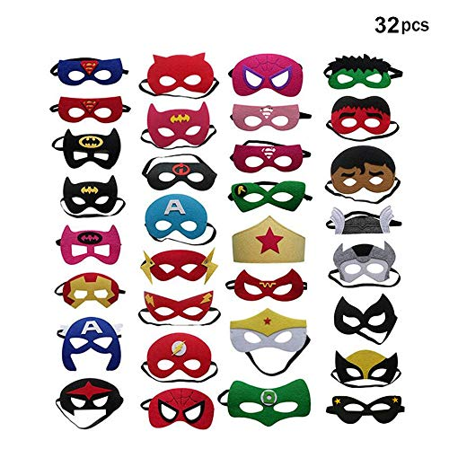 BJ-SHOP Superhelden Masken,Superhero Cosplay Party Masken Halbmasken Halbe Augenmasken für Kinder Party Taschen Füllstoffe (Masken Für Erwachsene)