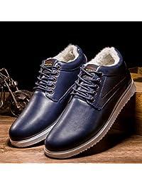 shoes Calzado de Invierno, Zapatos Gruesos Cálidos Y de Terciopelo, Calzados Casuales Y Cómodos, Zapatos de Algodón,Azul,40