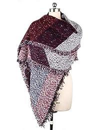 Dabixx inverno donna lana calda spessa Pashmina Stole in cachemire Sciarpe  Scialli Wraps - Viola e 9c2e561ccdd3