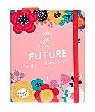 Erik - Agenda Premium Settimanale 2020, 17 mesi, 16,5x20 cm, copertina rosa floreale, perfetta per scuola o lavoro - Blummen
