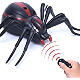 Dingdangbell Electric Remote Control Glowing Spider Infrared Rc Prank Toys Gift For Scary Trick Kids